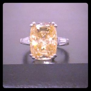 Bericle Canary Yellow CZ Ring